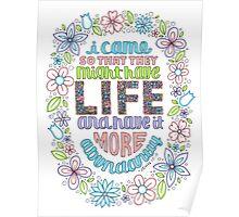 LIFE (John 10:10) Poster