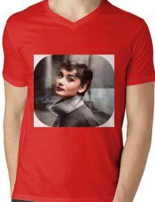 Audrey Hepburn Mens V-Neck T-Shirt