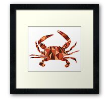 Geometric Crab Framed Print