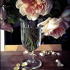 Roses in Footed Vase by Barbara Wyeth