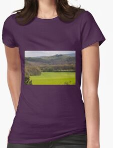 hilly landscape Womens Fitted T-Shirt