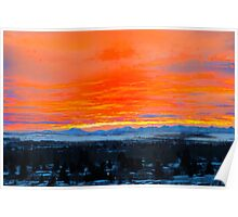 Breathtaking Chinook Sunset On The Rockies Poster