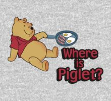 Where is Piglet? Winnie frying bacon. by King84