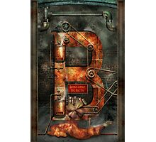 Steampunk - Alphabet - B is for Belts Photographic Print