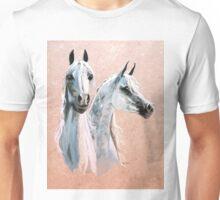 two gray arabians Unisex T-Shirt