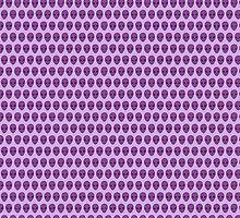 Alien Pattern {Purple on Lavender} by IggyMarauder