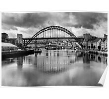 River Tyne Bridges Poster