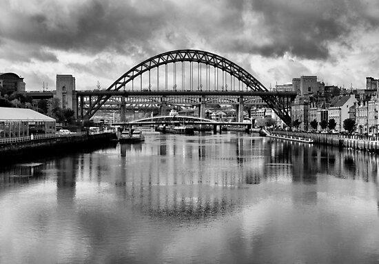 River Tyne Bridges by Trevor Kersley