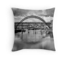 River Tyne Bridges Throw Pillow