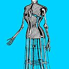 Vintage Dress Mannequin with skull and hat by monsterplanet