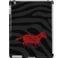 Galloping Zebra Stencil - Red iPad Case/Skin