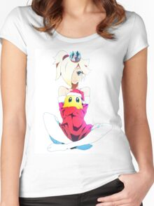 Rosy and Luma - White Women's Fitted Scoop T-Shirt
