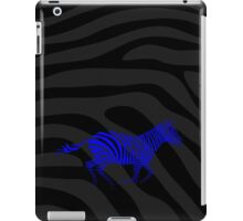 Galloping Zebra Stencil - Blue iPad Case/Skin