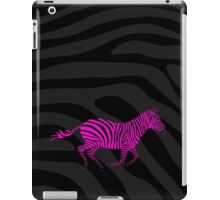 Galloping Zebra Stencil - Pink iPad Case/Skin