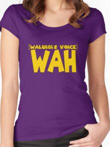 Wah Waluigi Voice Women's Fitted Scoop T-Shirt