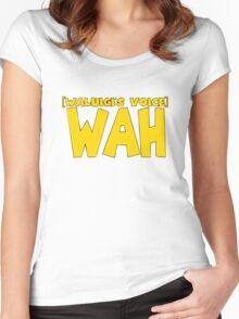 Wah Waluigi Voice Women's Fitted Scoop T-Shirt