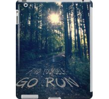Find Yourself Go Run No. 6 - Forest with Sun Flare iPad Case/Skin