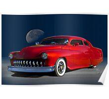 1951 Mercury Custom 'Midnight Ride' Poster