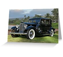 1933 Packard Super 8 Sedan Greeting Card