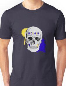 MICHIGAN UNIVERSITY SKULL STICKER AND LEGGINGS Unisex T-Shirt