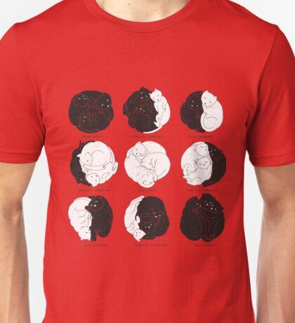 Kitty Lunar Cycle_Mint Unisex T-Shirt