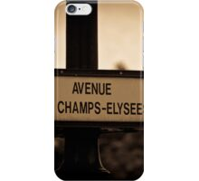 Avenue des Champs-Elysees iPhone Case/Skin