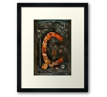 Steampunk - Alphabet - C is for Chain Framed Print
