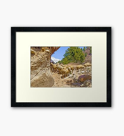 Digital Landscape Painting Framed Print