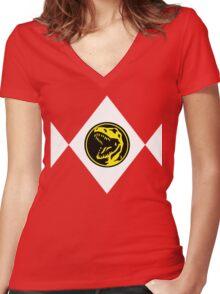 mighty morphin power ranger Women's Fitted V-Neck T-Shirt
