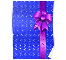Purple Present Bow Poster