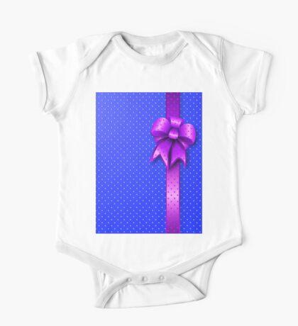 Purple Present Bow One Piece - Short Sleeve