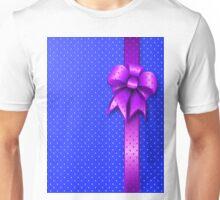 Purple Present Bow Unisex T-Shirt