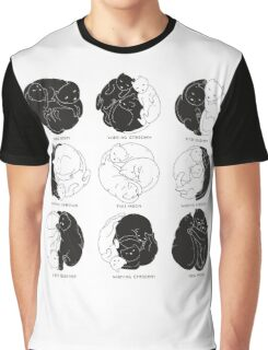 Kitty Lunar Cycle_White Graphic T-Shirt