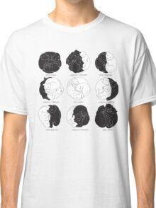 Kitty Lunar Cycle_White Classic T-Shirt