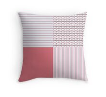 Pink Stripes, Hearts and Solids Plaid Throw Pillow