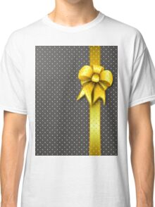 Gold Present Bow Classic T-Shirt