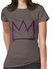 Crown (Purple) Womens Fitted T-Shirt
