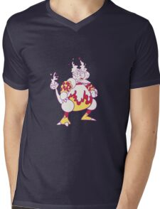 Magmar Popmuerto | Pokemon & Day of The Dead Mashup Mens V-Neck T-Shirt