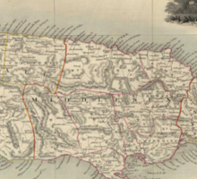 Vintage Map of Jamaica (1851) Sticker