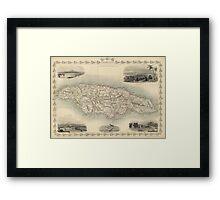 Vintage Map of Jamaica (1851) Framed Print