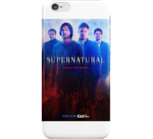 Wrestle your demons - Supernatural season 10 poster iPhone Case/Skin