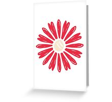 Red Flower Pattern Greeting Card