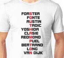 Southampton spelt using player names 1 Unisex T-Shirt