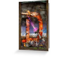 Steampunk - Alphabet - D is for Death Ray Greeting Card