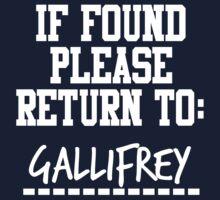 If Found, Please Return to Gallifrey Kids Clothes