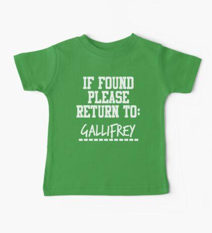 If Found, Please Return to Gallifrey Baby Tee