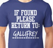 If Found, Please Return to Gallifrey Unisex T-Shirt