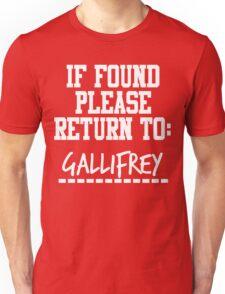 If Found, Please Return to Gallifrey Unisex T-Shirt