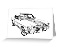 1965 GT350 Mustang Muscle Car Illustration Greeting Card