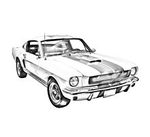 1965 GT350 Mustang Muscle Car Illustration Photographic Print